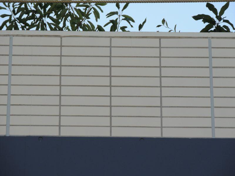 長方形タイルの納まり