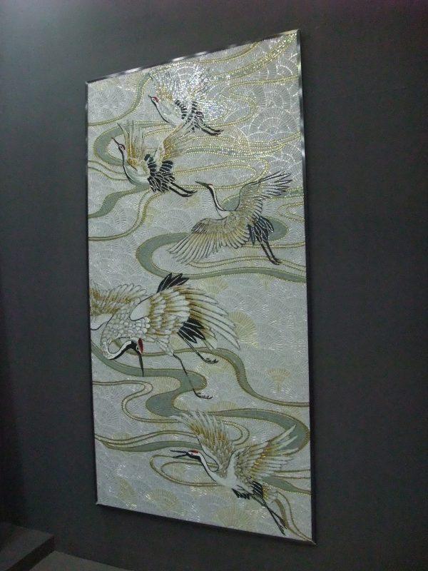 丹頂(鶴)モザイクタイルアート