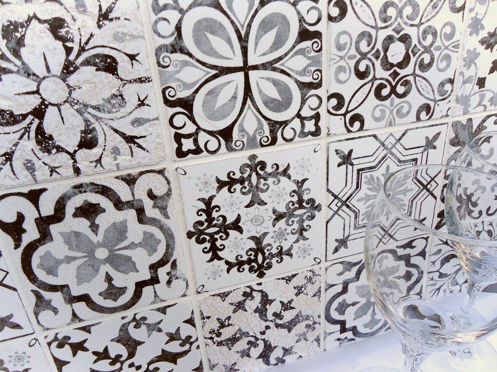 デザインタイル アンティークプリント 100角タイル デジタルプリントタイル 石材プリントタイル アンティーク加工タイル