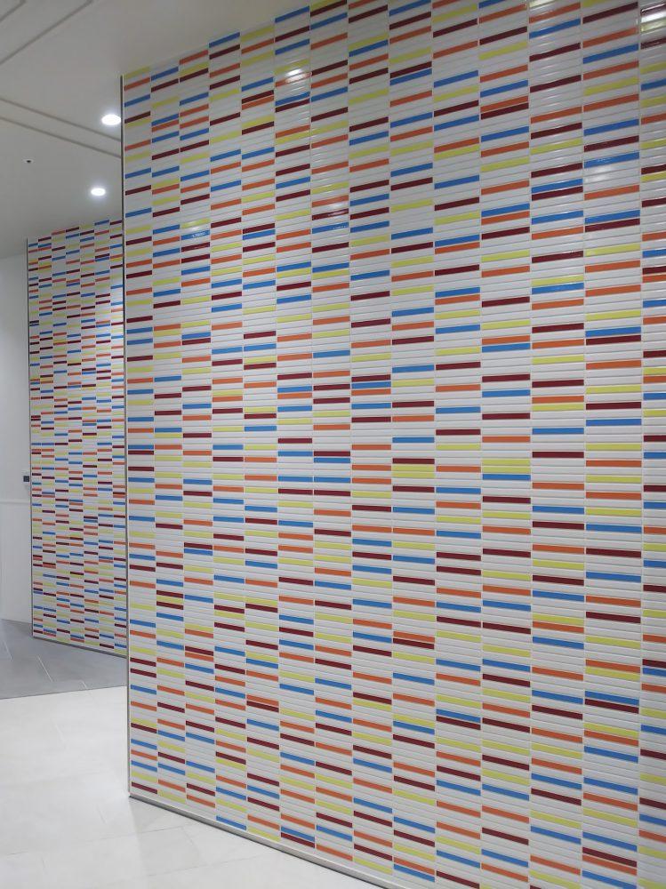 ジェフロッテ 内装壁 ボーダータイル カラフルタイル